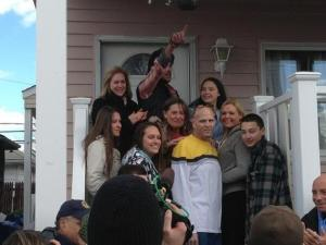 Enright Family and The volunteers for HGTV Spontaneous Construction